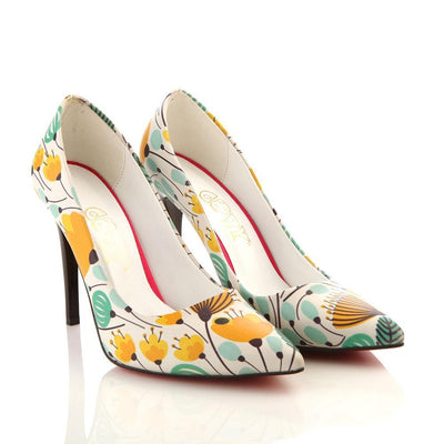 Flowers Heel Shoes STL4007