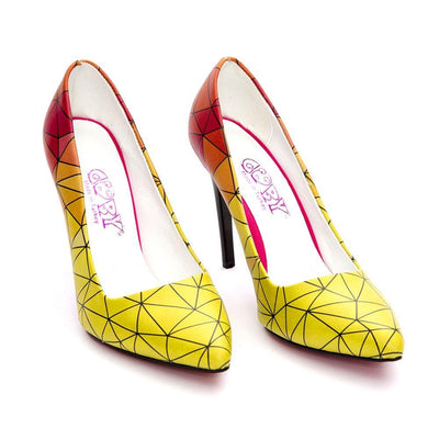 Pattern Heel Shoes STL4024