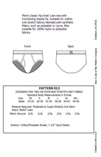 Load image into Gallery viewer, Men's Classic Hip Brief Sewing Pattern MAIL