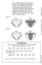 Load image into Gallery viewer, Mens Contoured Jockstrap Underwear Sewing Pattern MAIL