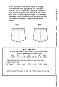 Men's Retro Style Swim Trunk with Waistband and Leg Binding PDF