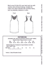 Load image into Gallery viewer, Men's Racer Back Tank Top Pattern MAIL