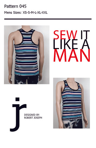 Men's Racer Back Tank Top Pattern PDF