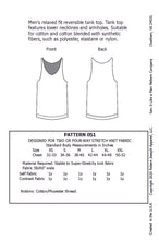 Load image into Gallery viewer, Men's Reversible Tank Top Pattern PDF
