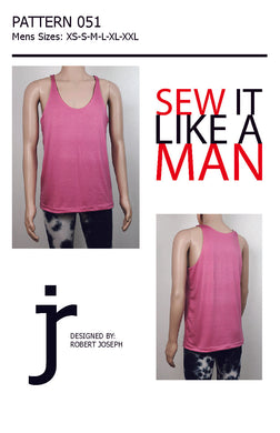 Men's Reversible Tank Top Pattern MAIL