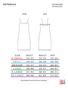 Women's Camisole Dress Basic Relaxed/Loose Fit Sewing Pattern MAIL