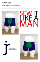 Load image into Gallery viewer, Mens Bermuda Boxer Brief Trunk Underwear Sewing Pattern PDF