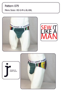 Men's Sack Pouch Bikini Brief Underwear Sewing Pattern PDF