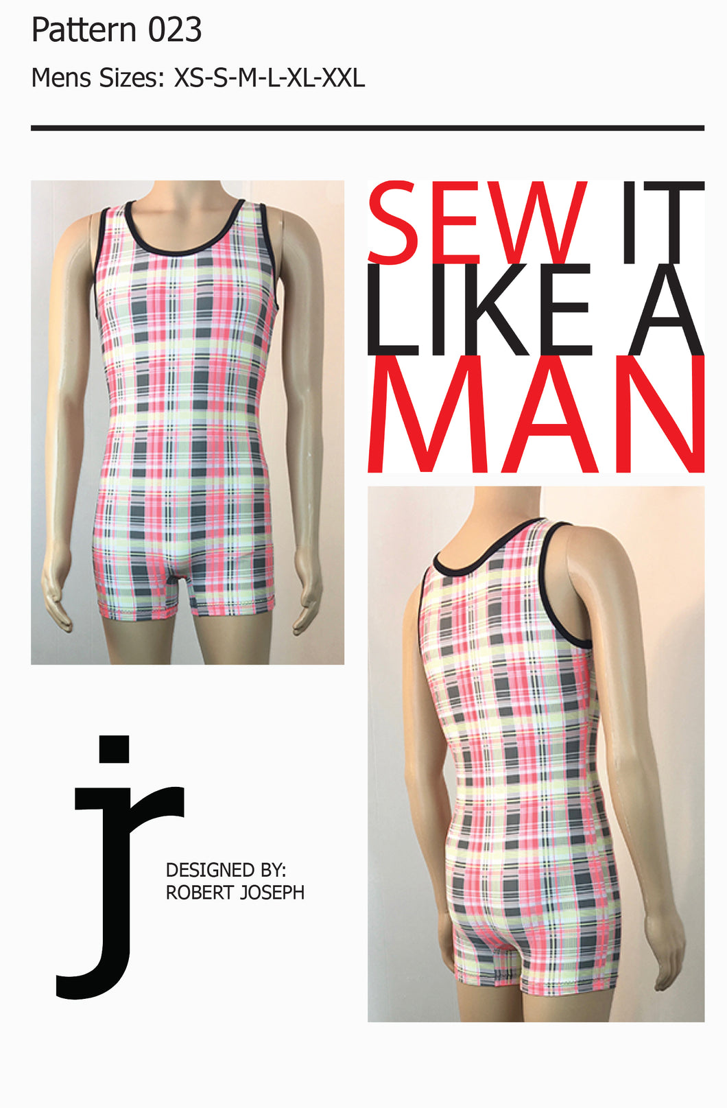 Mens Wrestling Singlet Sewing Pattern PDF