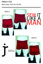 Load image into Gallery viewer, Mens Vintage Swim Trunk Sewing Pattern MAIL