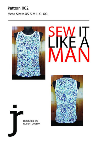Mens Tank Top Sewing Pattern PDF