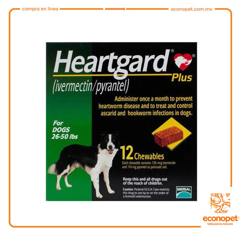HEARTGARD VERDE MEDIANO 12-22KG