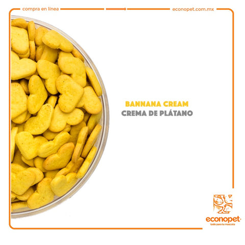 Catch! - Banana Cream - Crema de Platano - (Corazon Chico) - Bolsa de 100gr