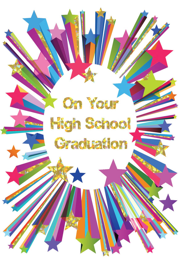 High School Hooray Graduation Card