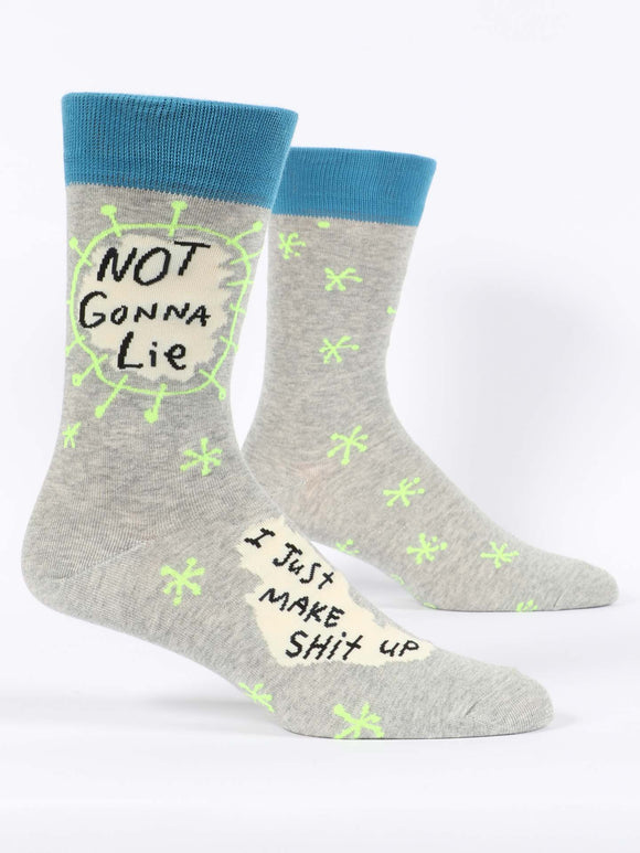 Not Gonna Lie, I Just Make Shit Up Men's Crew Socks