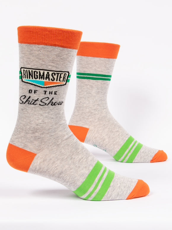 Ringmaster Of The Shit Show Men's Crew Socks