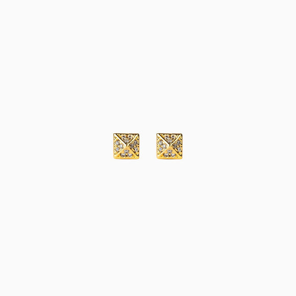 Grace Pavé Stud Earrings (3 colours)
