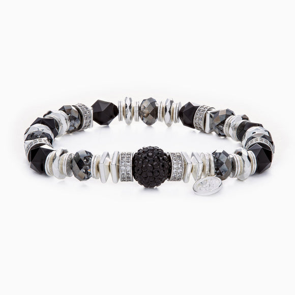 Black Sparkle Ball Luxe Bracelet