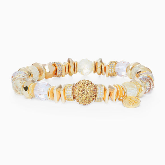 Gold Sparkle Ball Luxe Bracelet