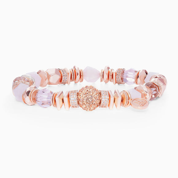 Rose Gold Sparkle Ball Luxe Bracelet
