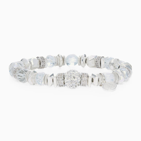 White Sparkle Ball Luxe Bracelet
