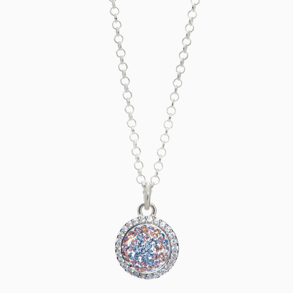 Ethereal Sparkle Ball Halo Necklace Pendant