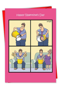 Popcorn Touch Funny Valentine's Day Card