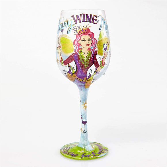 Fairy Wine Mother Painted Wine Glass