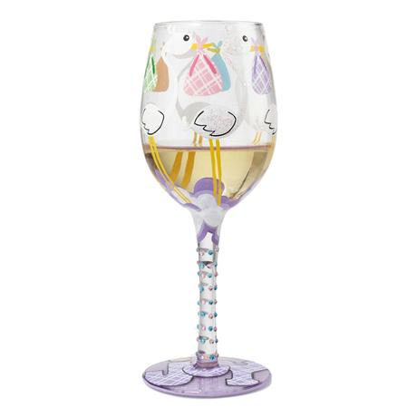 Bundle of Joy Painted Wine Glass