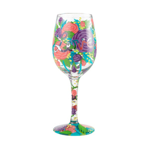 Love Painted Wine Glass