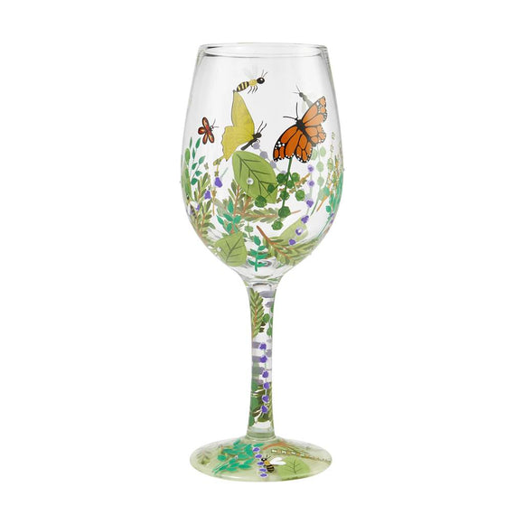 Organica Painted Wine Glass