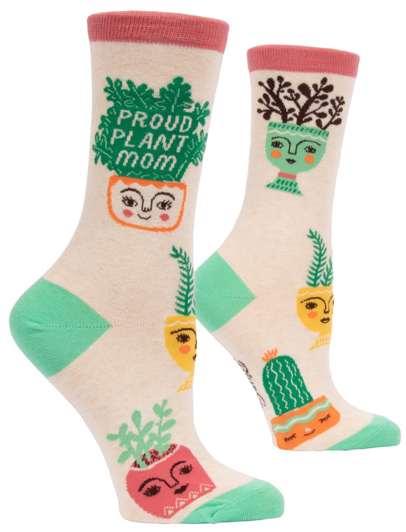 Blue Q Proud Plant Mom Women's Crew Socks