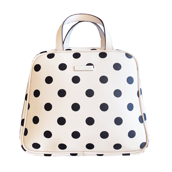 Getaway Toiletry Bag Creme Dot