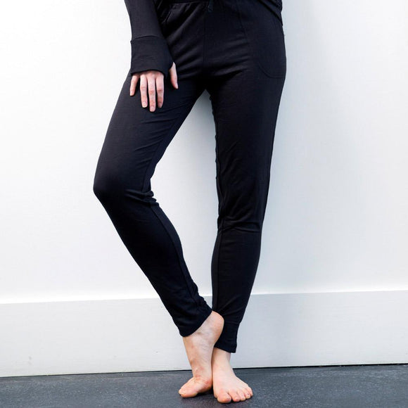 The Weekender Black Drawstring Pants