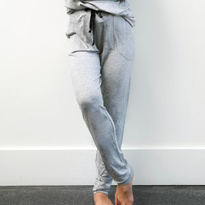 The Weekender Grey Drawstring Pants