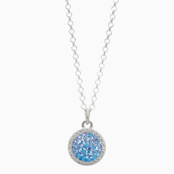 Celestial Sky Sparkle Ball Halo Necklace Pendant