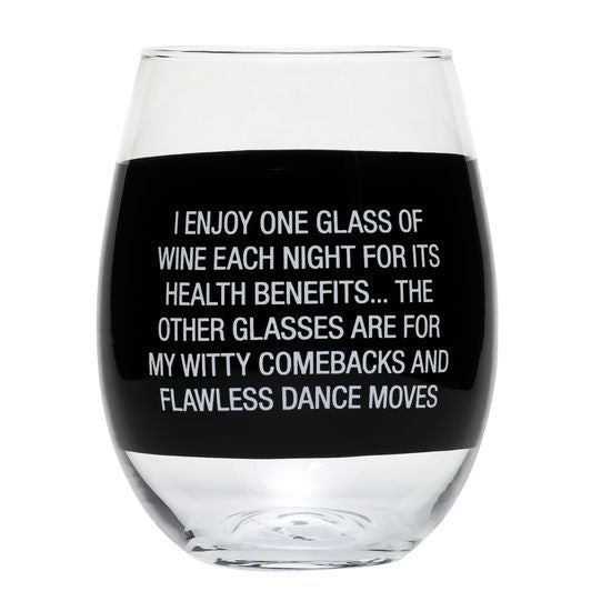 Combacks and Dance Moves Stemless Wine Glass