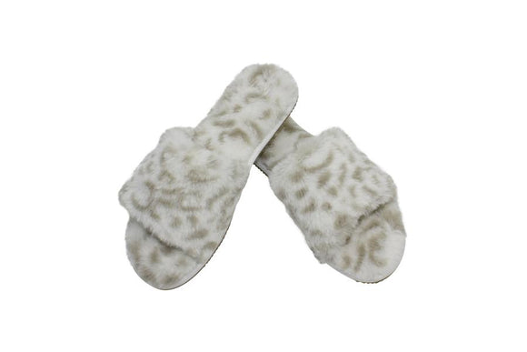 Slumber Slippers Snow Leopard