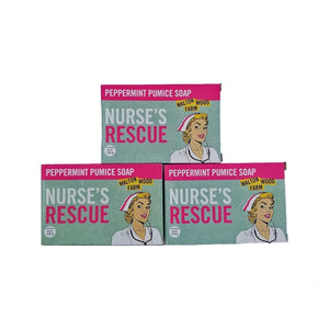Nurse's Rescue Peppermint Pumice Soap Bar