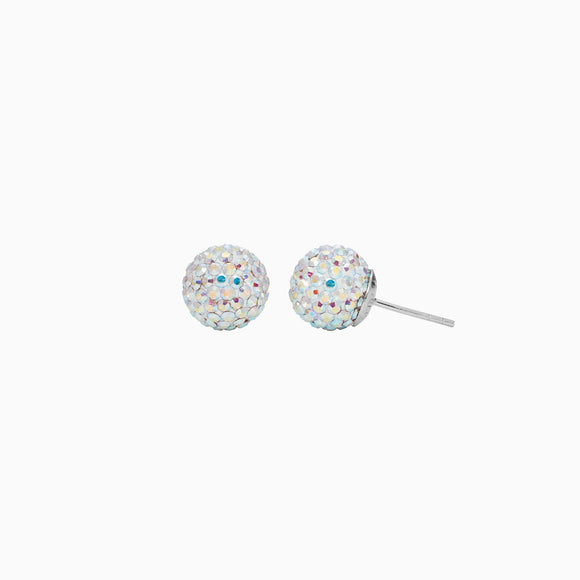 Aurora Borealis Sparkle Ball Stud Earrings