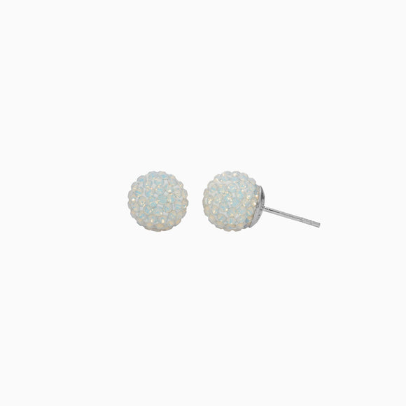 Opal Sparkle Ball Stud Earrings