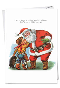 Assless Chaps Christmas Card