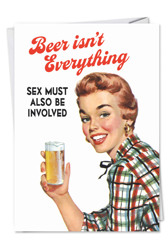 Beer Isn't Everything Valentine's Day Card