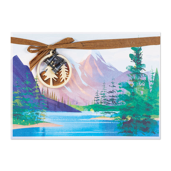 Mountain Range With Charms Birthday Card