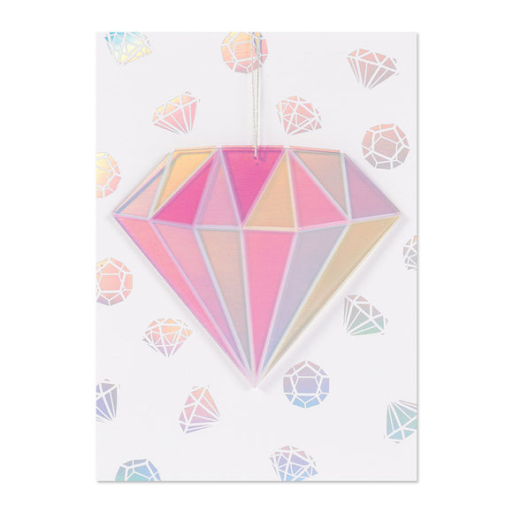 Acrylic Diamond Ornament Birthday Card