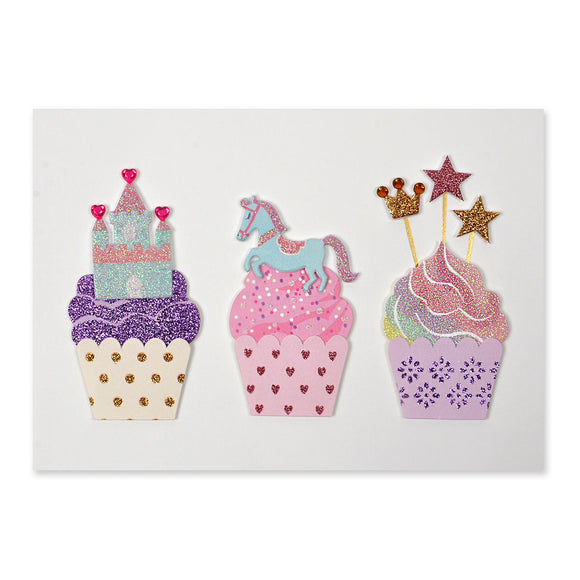 Fantasy Cupcakes Birthday Card