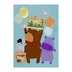 Animal Shakie Birthday Card
