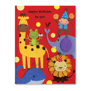 Happy Birthday Animals Card