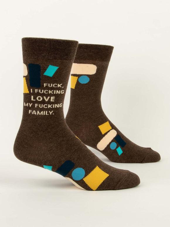 Fuck I Love My Fucking Family Men's Crew Socks