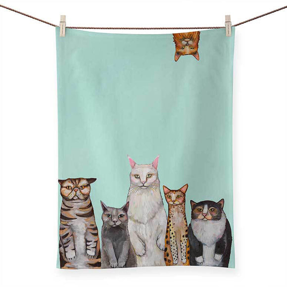 Cats, Cats, Cats Tea Towel